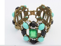 Punk Style Bohemian  Bohemia Emerald Costly Gem Bracelet Jewelry Wholesale
