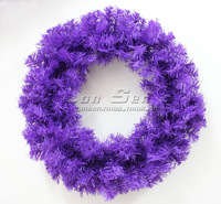 50cm purple Christmas wreath christmas decoration Garland christmas tree garland Christmas ornament