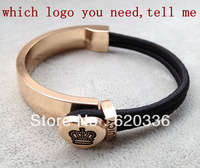 Min order $25(mix order) rainbow rubber bands bracelet,different logo to be choose.rubber bangle.free shippping