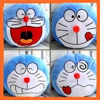 Foreign Trade Original+Free shipping 4 designs Doraemon Cushion,Ultra Soft Short Plush Pillow Cushion for Home, Car,35*35cm