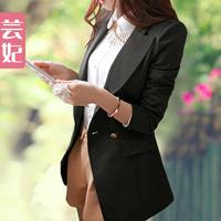 Small suit jacket women medium-long plus size slim suit 2013 spring and autumn female blazer
