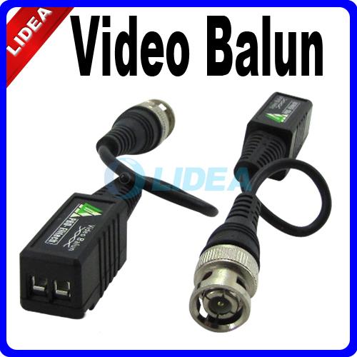 High Quality Network Video Balun 10x UTP BNC Male CAT5 to Camera CCTV DVR CN B-35(China (Mainland))