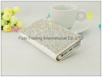 The diamond like the stars of the sky on the case with wallet flip dirt-resistant for iphone5 5G~10pcs/lot