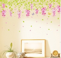 Cartoon Wall Stickers Wisteria 50 * 70cm Wall Decals/Wall Mural PVC Wall sticker Room Decor