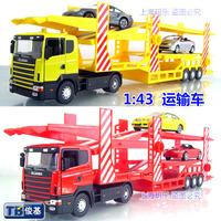 Free shipping hot selling alloy car child toy model transporter car model children gift