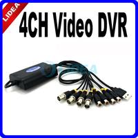 Easycap 4 Channel 4CH USB Video + 4CH Audio Capture Adapter CCTV DVR CN B-38