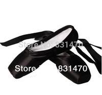 Good quality black satin ballet pointe shoes women professional dance shoes ballet toe shoes practice shoes free shipping