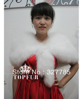 EMS Free Shipping New Arrival Wedding Genuine fox fur Shawl women's Fashion knite fox fur phocho TF0511