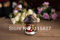 Free Shipping!Christmas candle holder Ceramic lantern Snowman Candle Holder house or shop decoration Christmas Gift artcraft