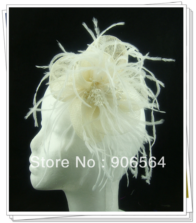 Free shipping 6 color avaliable sinamay fascinator hair accessories /cocktail hats/party hats 12Pcs/lot MSF254(China (Mainland))