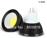 HOT SALE 4W LED  MR16  SPOT LIGHT COB  AL BULB FREE SHIPPING NOT DIMMABLE