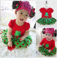 Hot Sale,2014 New,Children's Christmas dress,Girls Christmas Dress,Children's Christmas Clothes,Children's Clothes,1lot/5pcs