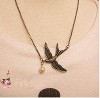 all-match fashion vintage cute Swallow pendant Necklace NL105