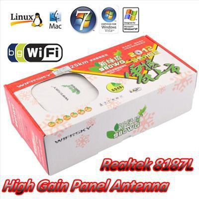 WiFiSKY 908WG 2000mW 2W High Power USB Wireless Wifi B/G Adaptor with Panel Antenna Realtek 8187L(China (Mainland))