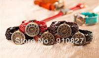 New Arrive Women Dress Watch High Quality Woman Watches Leather strap Vintage Wristwatch Quartz watch wholesale 300pcs