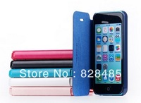 For iPhone 5C Leather Cover hollow out radiating Case