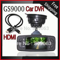 Newest Car DVR GS9000 Car Black Box Camera GPS with G-sensor 170Degree View Angle H.264 HDMI Out Full HD 1080P