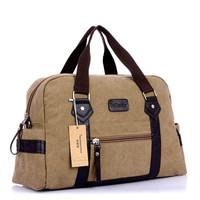 2014 fashion new Korean men's casual shoulder bag convenient travel large canvas handbag genuine men travel bags