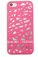 2pcs/lot High Quality Hollow Bird Nest Snap On Hard Back Phone Case Cover For Apple iPhone 5  5s free shipping