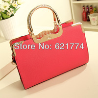 2013 New Fashion Women's Handbag Female Elegant PU Messenger Bag Retro Lady Tote Shoulder Bag Wholesale Free Shipping