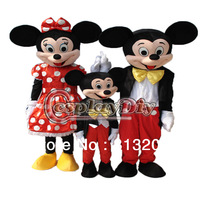 New Arrival Mickey Mouse Family With Little Mickey Edition Cartoon Mascot Costume For Adult In Christmas