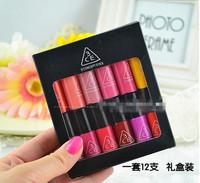 Korea 3CE mini lipgloss lipstick liquid sample Packing carton / package / gift box 12 colors into