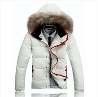 new 2013 hot sale Men's clothing down coat thickening Men plus size short design slim down coat male free shipping