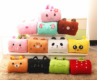 2 cartoon animal hand pillow plush pillow