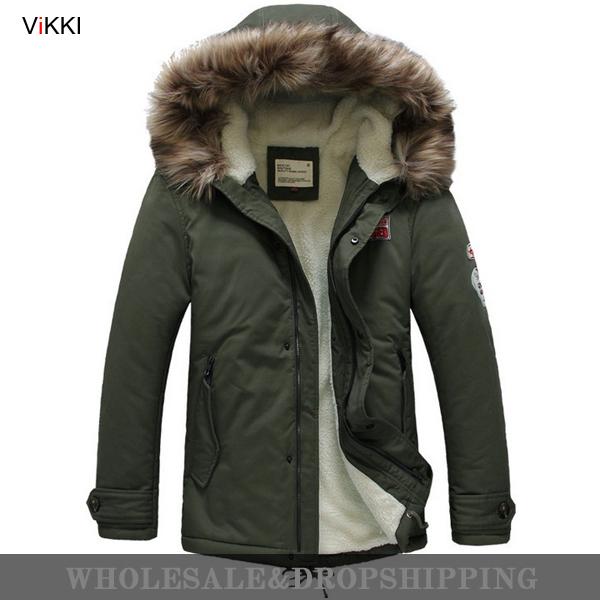 Men's Winter Jackets Fur Hood