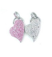 Tonpha Real Capacity 2gb 4gb 8gb 16gb 32gb Heart  Crystal  USB2.0 Flash Drive Free Shipping