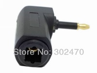 [FREE SHIPPING/EPACKET!] Toslink Digital Optical Jack to Mini Plug 90 Degree Right Angle Connector