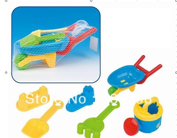 Hot New Cute beach truck Spade Set Of Seaside Sand Pit Beach Toy Set, Educational Children Kids Toys Set Free Shipping(China (Mainland))