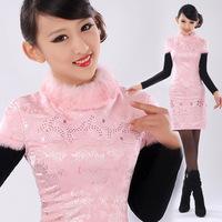 Isn't don served the bride cheongsam bridal wear fashion slim married cheongsam dress gr009