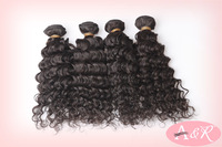 Free Shipping Virgin Malaysian Curly Hair Weave 3PCS lot Nature Black Deep Wave Malaysian Virgin Hair Products