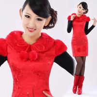 Isn't don served the bride cheongsam bridal wear fashion slim married cheongsam dress gr010