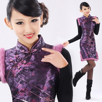 Isn't don served winter cheongsam fashion vintage cotton-padded cheongsam gw014