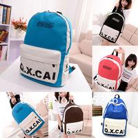 Free shipping 5 Colors Stylish Design Students Backpacks Bags Adults Teens Canvas Pockets Rucksack Hot Dropshipping