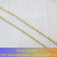 IHH00528 Copper 18K gold plated  chain necklace