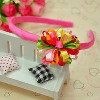 Korean models cute children's hair accessories headband flower hair band free shipping