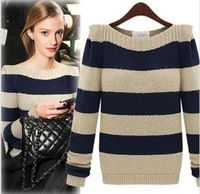 Winter Fashion Ladies pullover fine-knitted sweaters long sleeves