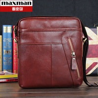 Genuine leather messenger bag man bag fashionable casual messenger bag backpack 2013 male cowhide shoulder bag