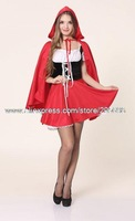Red riding hood two-piece outfit Costume cosplay costumes halloween christmas Free Shipping