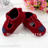 BX72 6pairs/lot Top Fashion Lovely Heart Cute Newborn Soft Baby Shoe First Walker Shoes Toddler Baby Girls Infant Boot