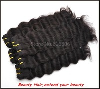 Indian deep wave Mix size each size 1pcs and same size 3 pcs lot, virgin Indian hair extension real Human hair