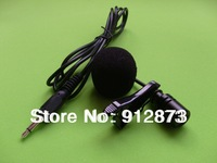 Lapel Collar Lavalier Microphone Handfree Clip Type Car Kit using Megaphone Condenser Mic Free Shipping 500 PCS/ lot