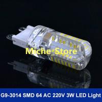 G9 led 3W 3014 SMD 200LM Warm white/white Non-polar LED Bulb Lamp High Lumen Energy Saving AC220-240V 10pcs/lot