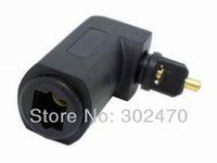 [FREE SHIPPING/EPACKET!] 90 Degree Right Angle Toslink Digital Optical Jack to Mini Plug Audio Adapter