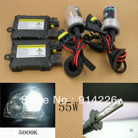 Car Auto parts Xenon 55W Xenon HID Conversion Slim Kit H3 5000K