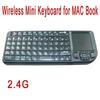 2.4G Portable Wireless Mini Keyboard Wireless Backlight Tastatur Teclado Clavier for MAC book black Free Shipping