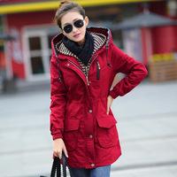 HOT Fashion New Ladies' casual jacket,Slim All-match Plus sizes women's long jacket winter coat Free shipping G2638